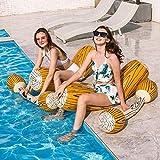 Happymore Joust Game Riide-On - Juego de 4 troncos flotantes para deportes acuáticos, juguetes de fila, piscina deportes acuáticos, juegos para adultos y niños