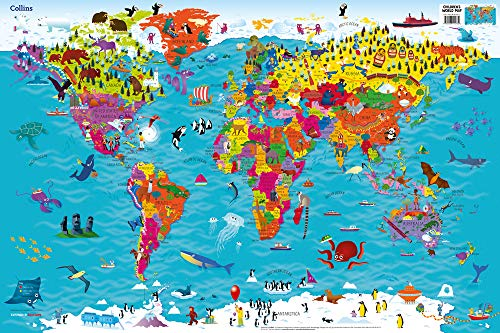 Collins Children's World Wall Map: An illustrated poster for your wall (Collins Children's World Map)