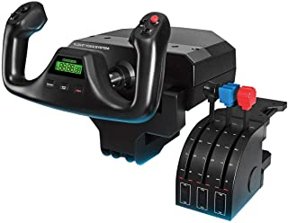 Logitech G Saitek PRO Flight Yoke System, Professional Simulation Yoke and Throttle Quadrant, 3 Modes, 75 Programmable Con...