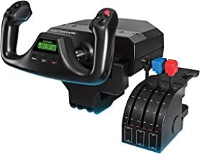Logitech G Saitek Pro Flight Yoke System, Sistema Leva di Controllo di Volo, Quadrante Acceleratore Per Simulazioni Profe...