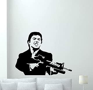 Al Pacino Wall Decal Scarface Vinyl Sticker Bandit Gangster Wall Art Design Housewares Kids Room Bedroom Decor Removable Wall Mural 113RT