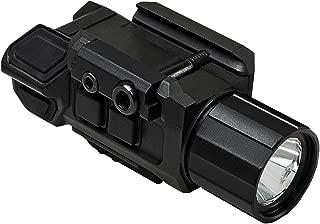 NC Star VAPFLSRV3 Pistol Flashlight & Laser, 3W Ultra Bright, 200 Lm LED, Fully Adjustable, Strobe, Red Laser