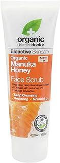 DR ORGANIC Face Scrub Organic Manuka Honey, 125 Milliliter