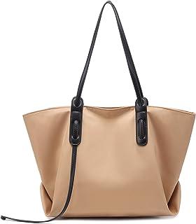 JANSBEN Damen Handtasche Wasserfest Schultertasche Groß Shopper Taschen Casual Hobo Frauen für Büro Schule Einkauf