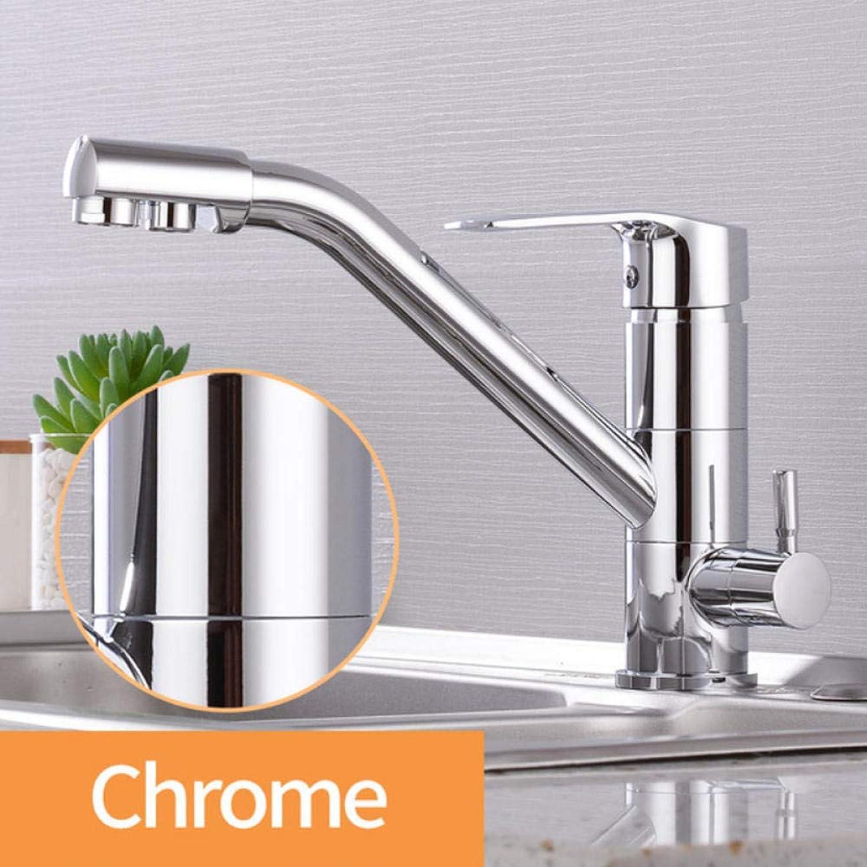 Lddpl Wasserhahn Küchenarmatur Chrom gebürstet 360-Umdrehung Spültischarmatur mit gefiltertem Wasser Mischbatterien Wasserhahn Spültischarmatur