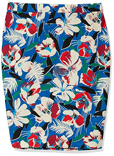 J.Crew Mercantile Women's Printed Basketweave Pencil Skirt, Bright Blue, 8