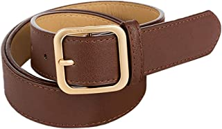 VOYOAO Mens Womens Classic Leather Belts Cowboy Belts Single Prong Buckle 105cm