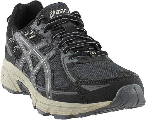 ASICS Pour des hommes Gel-Venture 6 FonctionneHommest chaussures, noir gris Feather gris, 12.5 D(M) US
