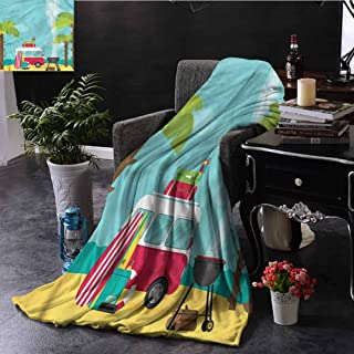SSKJTC Explore Fur Throw Blanket Caravan Camping Beach Dorm Bed Baby Cot Traveling Picnic W50 xL60