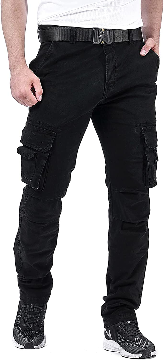 Crazyfire Cargo Pants for Men Joggers with Pockets Relaxed Fit Tactical Pants