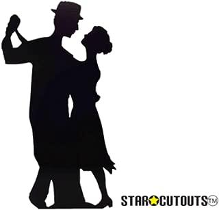 SC48 Salsa Dancer (Silhouette) Cardboard Cutout Standup
