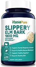 Slippery Elm Bark Extract 1800mg 200 Veggie Capsules (Extract 4:1, Non-GMO & Gluten Free) Soothe Sore Throat & Cough, Trea...