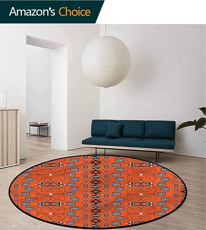 RUGSMAT African Modern Machine Round Bath Mat Ethnic Tribal Ornaments Baby Room Decor Round Carpets Round 31