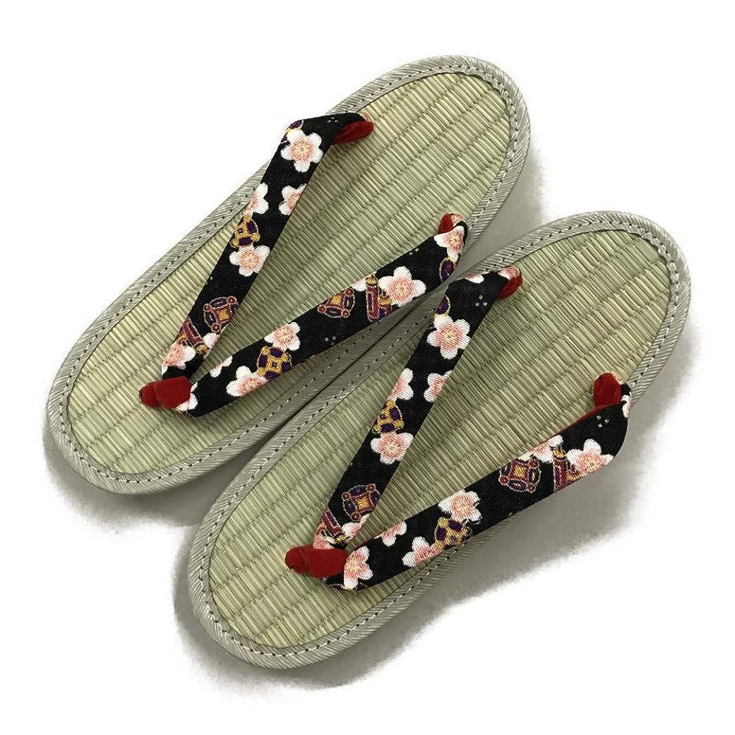 印象的個人的な着飾る日本製草履(ぞうり) 天然イグサ 桜ちりめん鼻緒 盆踊り 夏祭り 夏フェス 花火大会