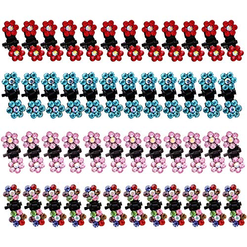 Mini Horquilla Flor de Metal Mini Clips de Pelo Garra de Pelo Pinzas para el Cabello Garra de Pelo Color Sombreros Accesorios...