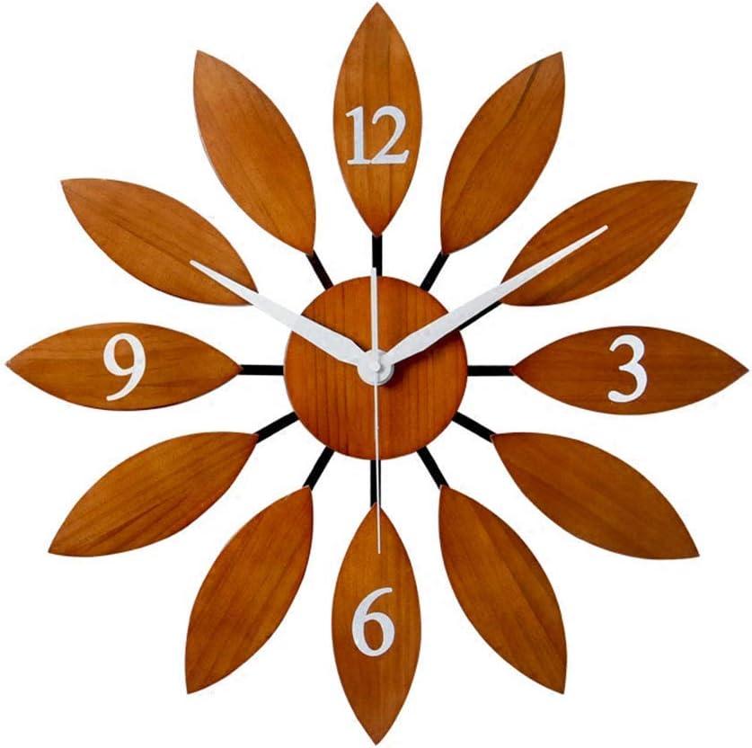 Amazon Com Large Clocks Wooden Wall Clock Art Decor Silent Non Ticking Wall Watches Modern Living Room Quartz Office Kitchen Decorative 53 53cm A 53 53cm Sports Outdoors