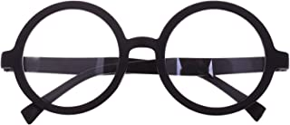 BCP Plastic Matte Black Round Frame Eyeglasses Costume Party Favors