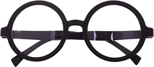 BCP Plastic Matte Black Round Frame Eyeglasses Costume Party Favors