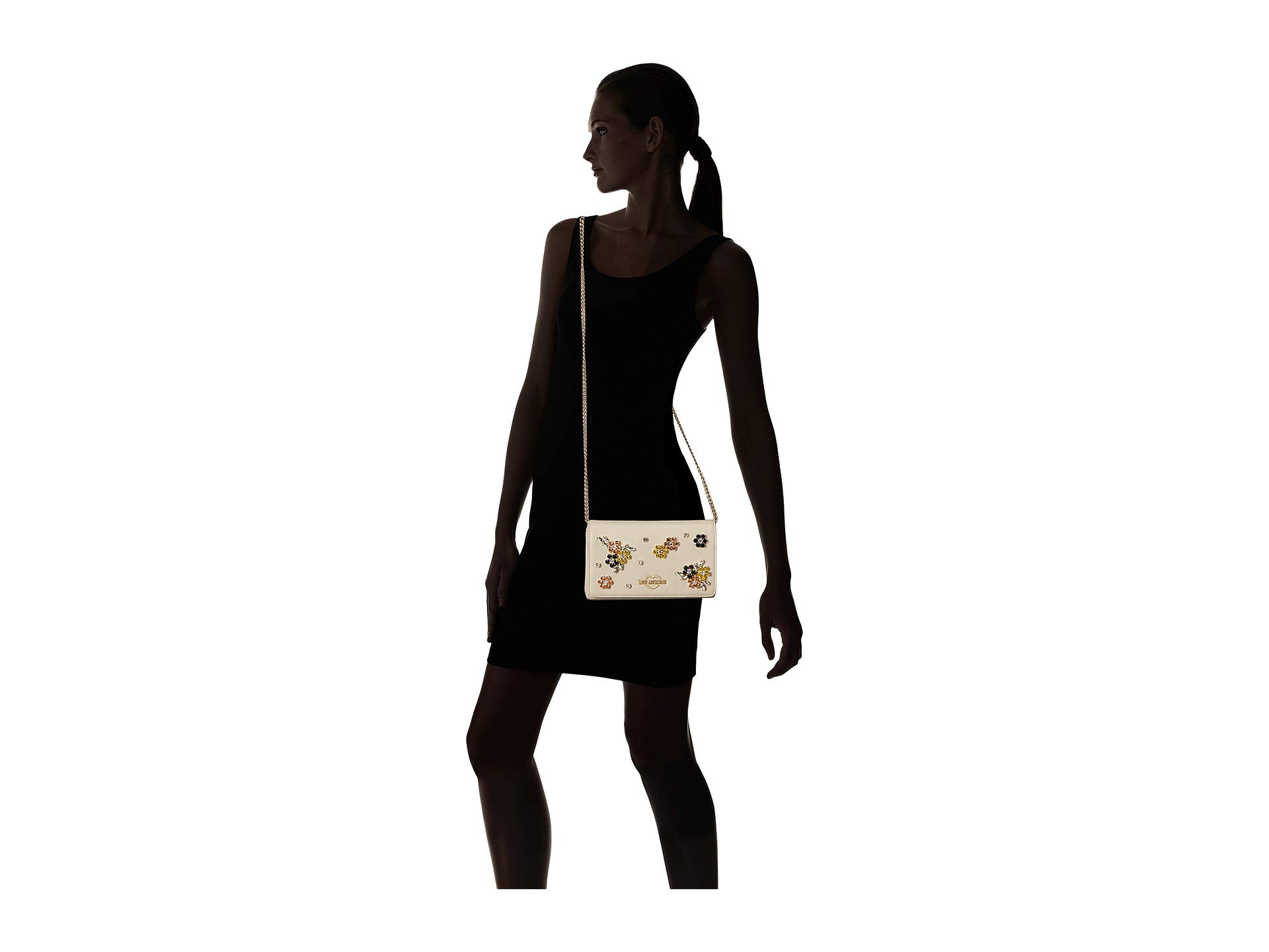 Flower Ivory With Moschino Hardware Bag Love Evening wxIYpqP14