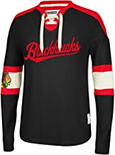 Chicago Blackhawks CCM Reebok NHL Knit Rib Crew Skate Lace Shirt