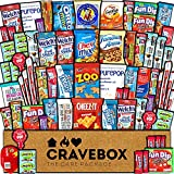 CraveBox Care Package (60ct) Father's Day Snack Box for Dad Prime Food Assortment Treats Cookies Bars Candy Chips Variety Gift Pack Basket Mix Birthday Men Women Adults Teens Kids College Student
