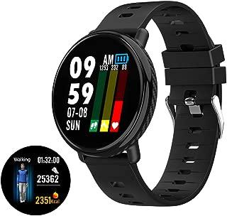 YCSHSB Smart Watch,Ip68 Waterproof,Blood Pressure Monitoring,Heart Rate Monitoring,Multi-Sports Smart Fitness Bracelet Sedentary Reminder/Black / 41x10x47mm