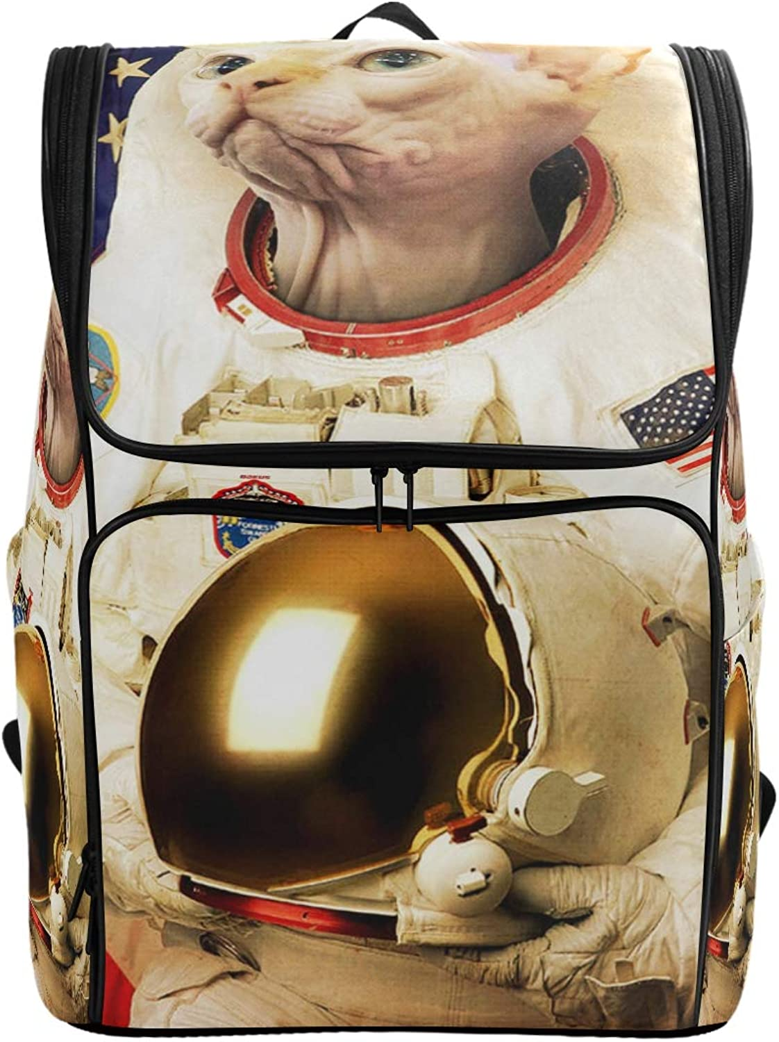 MONTOJ Astronaut Hairless Cat Outdoor Hiking Backpack Hiking & Travelling Backpack with Laptop Compartment & Camping Backpack