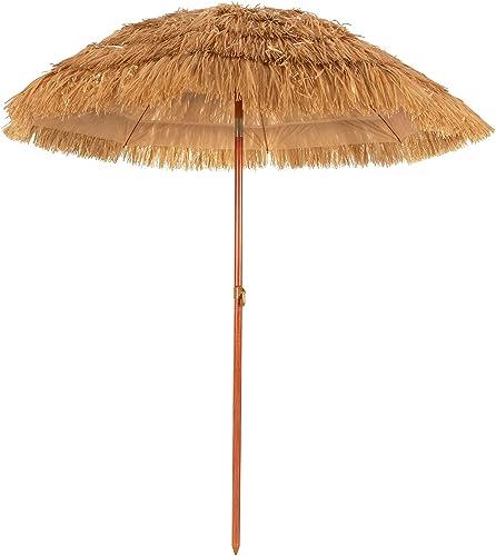 2021 Giantex 6.5 Ft discount Thatched Patio Umbrella, Hawaiian Tiki Umbrella, Outdoor Table Umbrella with Tilt Function & Portable Design, Straw Top with sale Sun-Resistant Fabric, Sunshade Beach Umbrellas Ideal for Pool, Garden, Outdoor outlet online sale