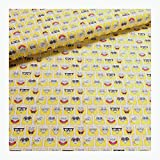 Stoff am Stück Stoff Kinderstoff Baumwolle gelb SpongeBob