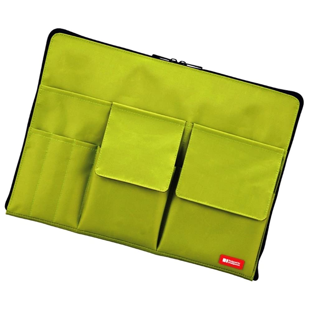 LIHIT LAB Laptop Sleeve with Storage Pockets (Bag-in-Bag), Yellow Green, 10 x 13.8 Inches (A7554-6)