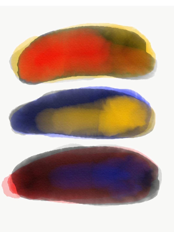 3 Color Rocks Art Fine 020 Serigraph - Print Max 58% OFF Gliclée Popularity