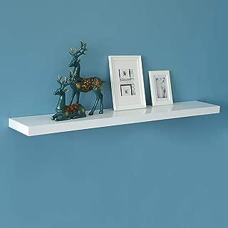 WELLAND New Chicago Floating Shelf, White Floating Wall Shelf Ledge Shelf, 60-inch, White