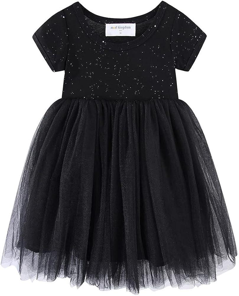 Mud Kingdom Sparkly Girls Tutu Dress Princess Plain Short Sleeve