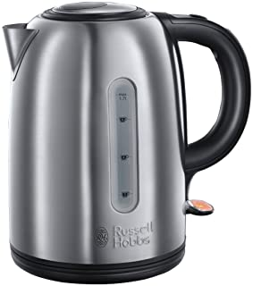 RUSSELL HOBBS SNOWDON STAINLESS STEEL ELECTRIC KETTLE FOR HOME & OFFICE 1.7L, 3000W- 20441, 2 YEARS WARRANTY