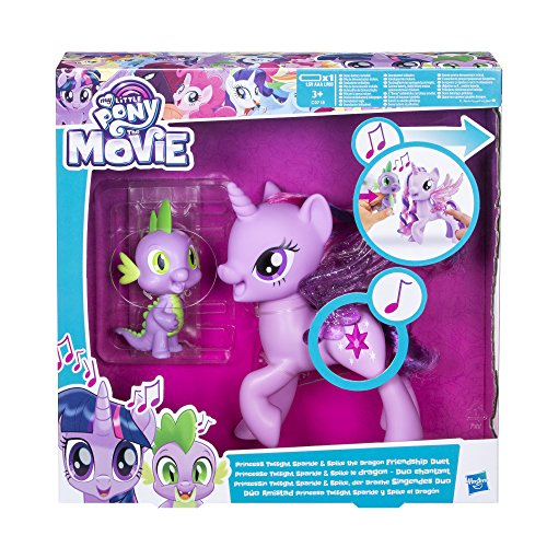 Hasbro Conjunto de Juguete película My Little Pony C0718100, Princesa Twilight Sparkle y el dragón Spike, dúo Musical