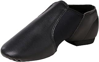STELLE Slip-on Jazz Shoes Girls Women Toddler Boys Men Teens, Black