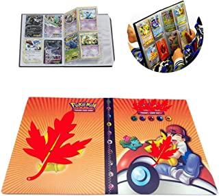 Card Holder Collection Handbook Trading Card Album for Pokemon Holds up to 240 Trading Cards (Orange Ash)