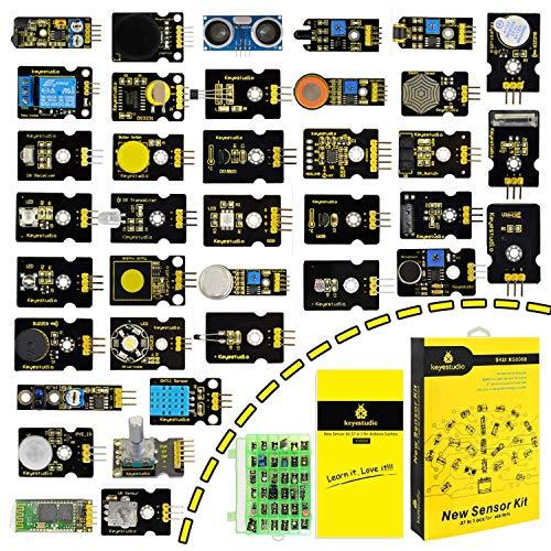 KEYESTUDIO 37-en-1 Pack de Kit de Módulos Sensores con Tutorial Gratis en PDF para Arduino Project, Mega , UNO, Nano, Sensor Sensores Kit, Raspberry Sensores Kit
