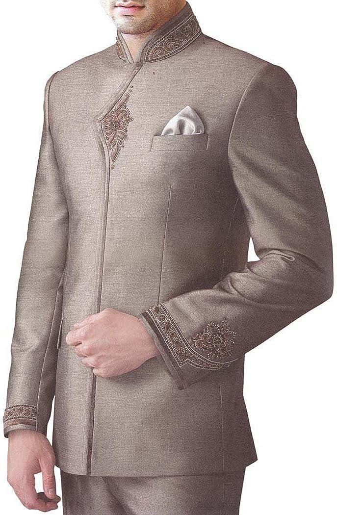 INMONARCH Mens Copper 3 pc Jodhpuri Suit Heavy Work JO222
