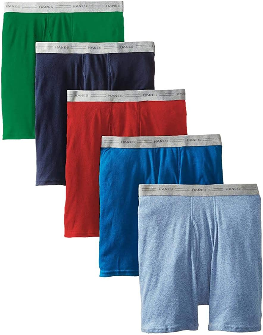 Hanes Ultimate Men's 5-Pack FreshIQ Dyed Boxer Brief 5PACK - XLarge