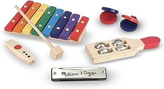 Melissa & Doug Band-in-a-Box Hum! Jangle! Shake! - 7-Piece Musical Instrument Set
