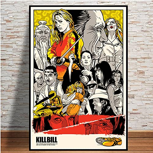 Sanguolun Cuadro En Lienzo Kill Bill Pulp Fiction Quentin Tarantino película película Pintura Arte Pared Cuadros decoración del hogar 60x90cm