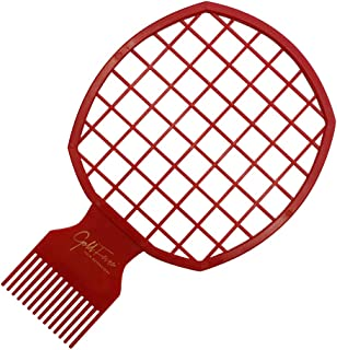 Afro Twist Hair Comb-Barber Favored,2 in 1 DIY Men's Curly Hair Style African Style Hair Brush (Red)