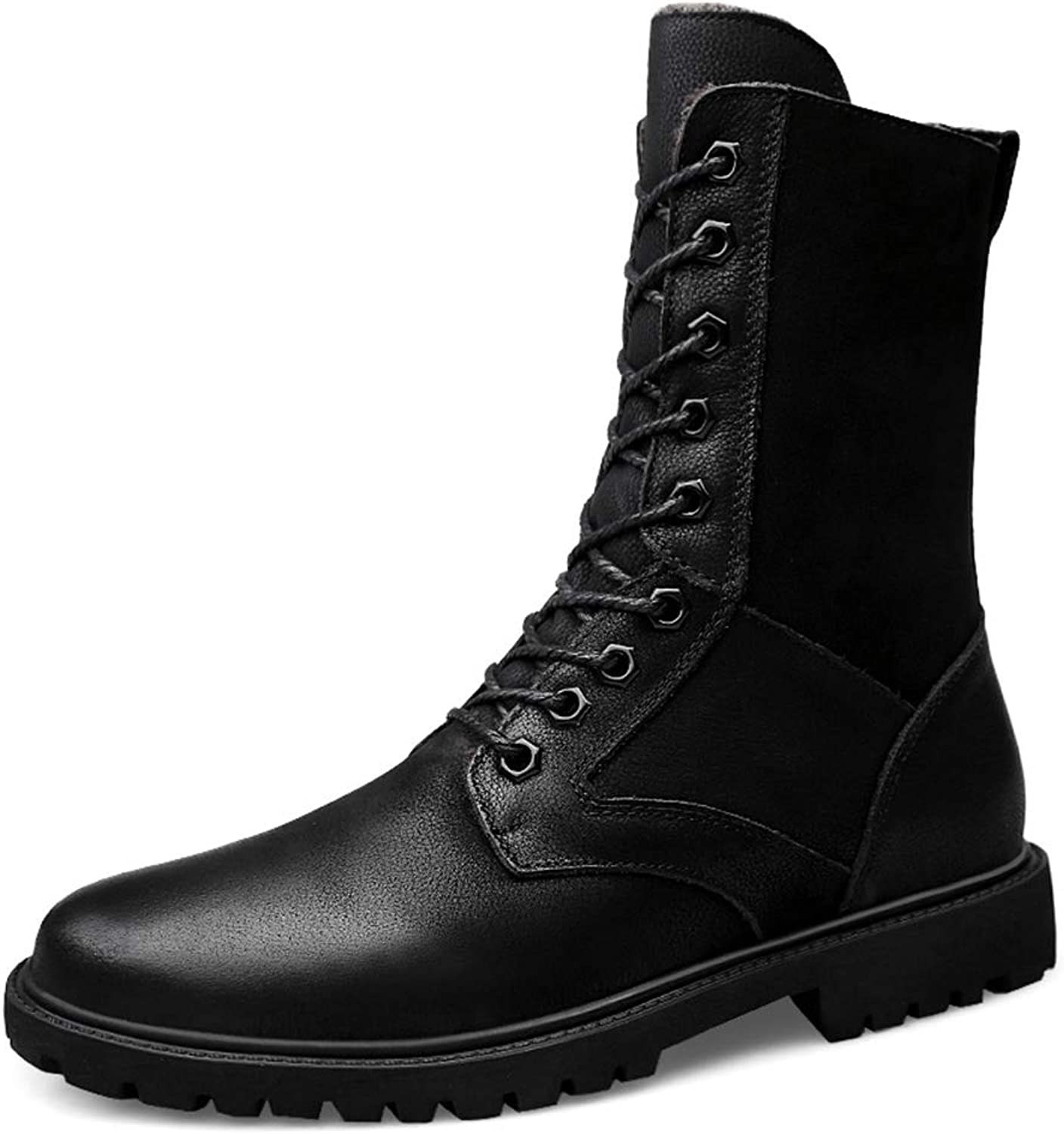 Lydee Men Fashion Winter shoes High Top Lace Up Combat Boots