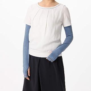 [ヨークス] UV手袋 UVカット スーパーロング丈 55cm ひんやり接触涼感 高遮蔽率 ストレッチ素材 指なし スマホ対応 すべり止め付