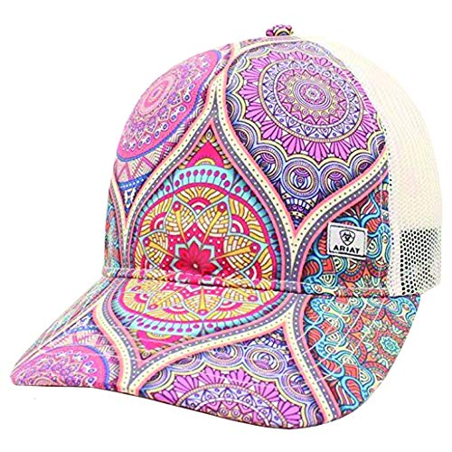 Ariat Ladies Stained Glass Print Adjustable Hat