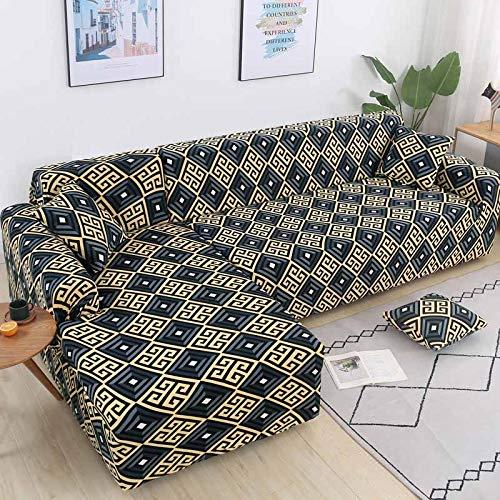 Fundas de sofá de Esquina en Forma de L para Sala de Estar, Fundas de sofá, sofá seccional elástico elástico, sofá Cubre A4, 3 plazas