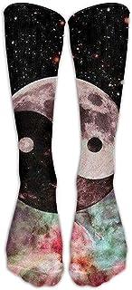 Calcetines hasta la rodilla de compresión de recuperación más rápida de Ying Yang Calcetines deportivos de moda para adultos Calcetines largos de rodilla de tubo largo de dibujos animados SOCKS-0428