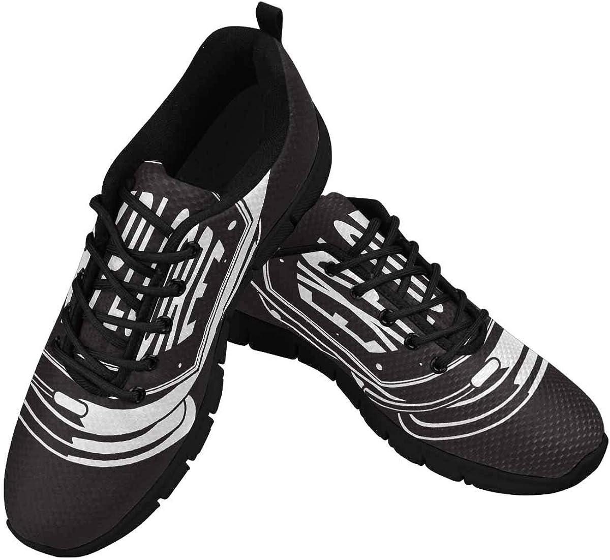 InterestPrint Helmet with Explore Word Graphic Women's Tennis Running Shoes Lightweight Sneakers
