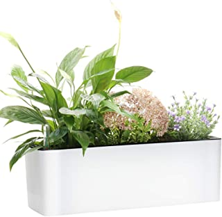 Rectangle Self Watering Planter Pots Window Box 40 cm Indoor Home Garden Modern Decorative Planter Pot for All House Plant...